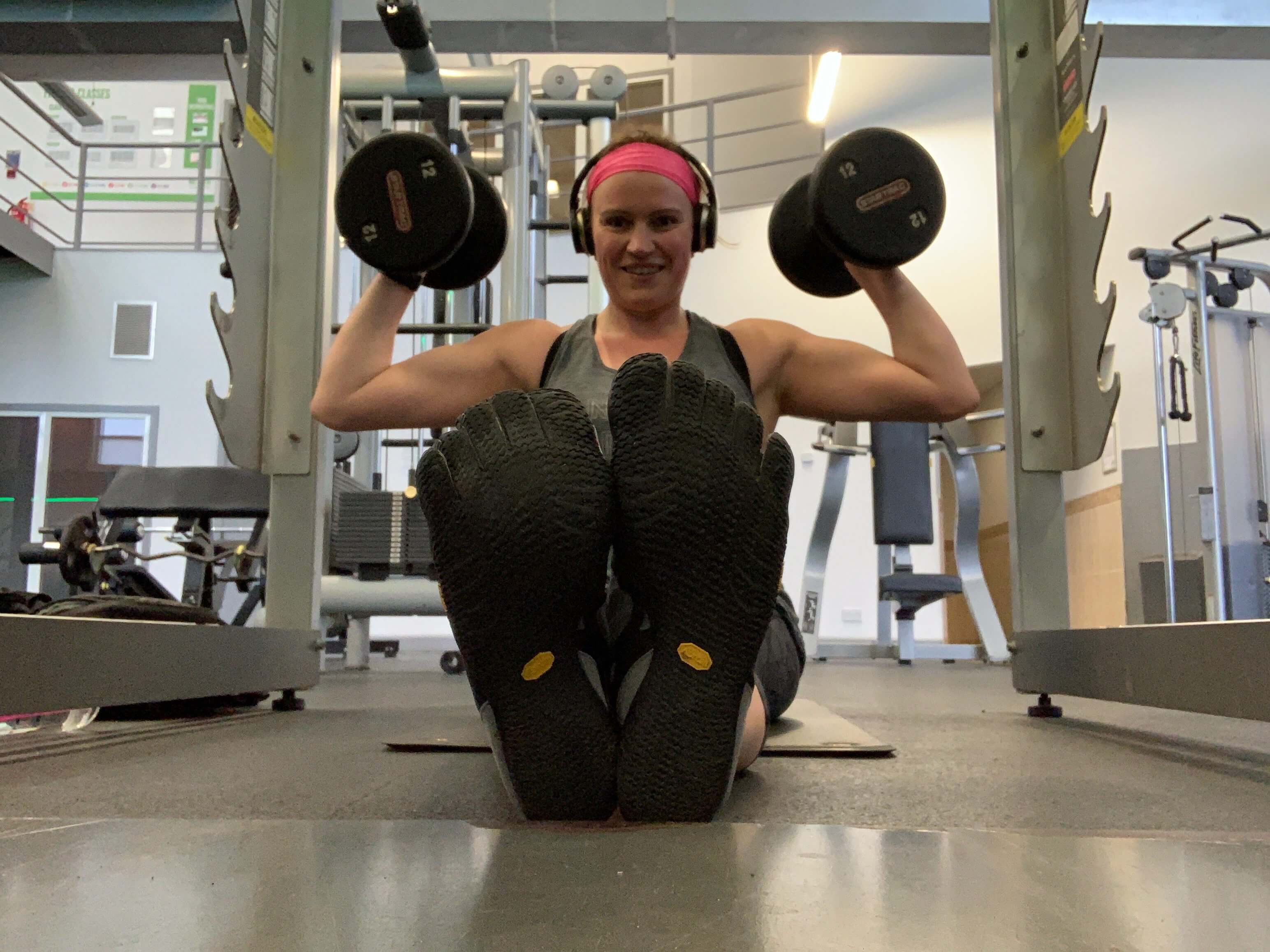 Jo at the gym